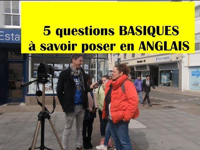 5 questions basiques à savoir poser en anglais