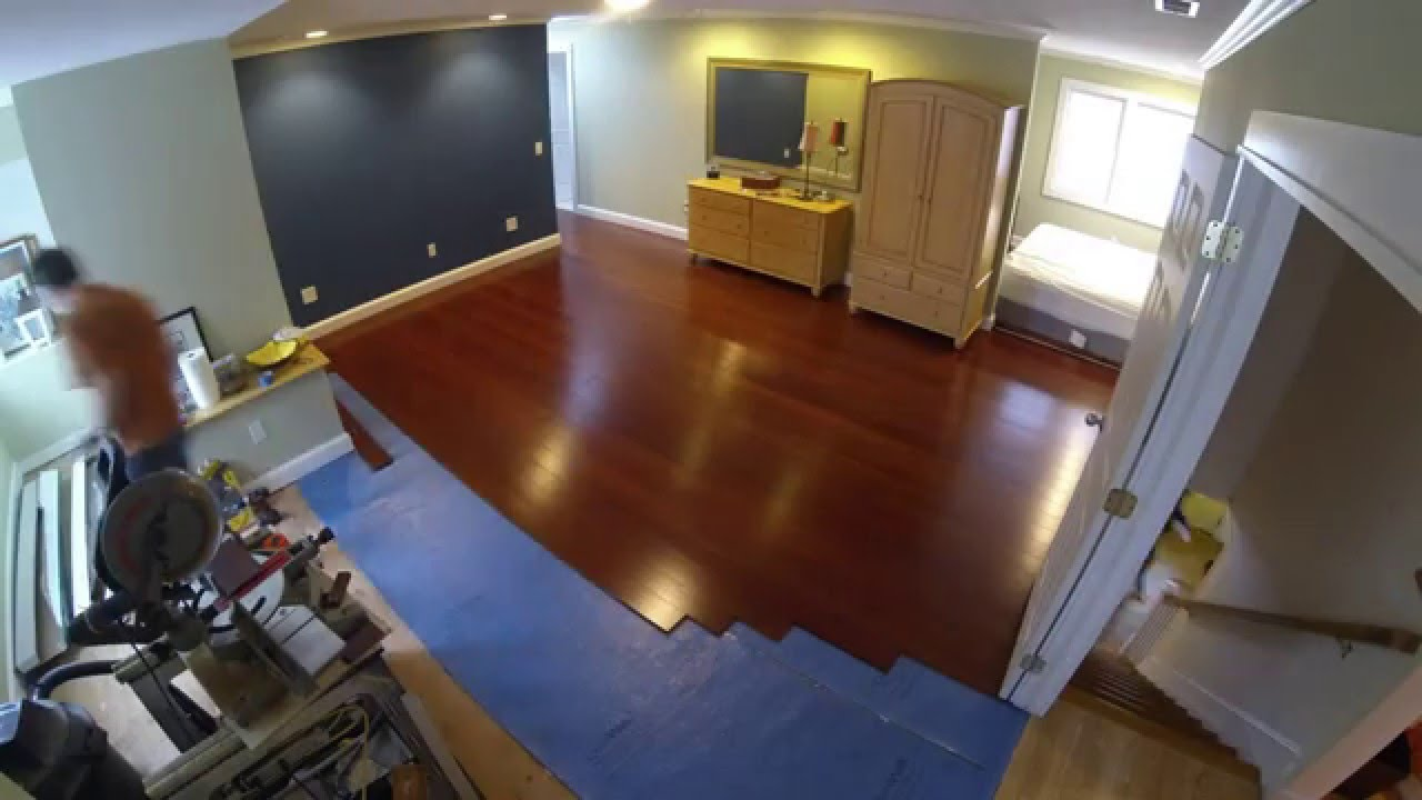 Installing morning star click bamboo flooring youtube for Installing bamboo flooring