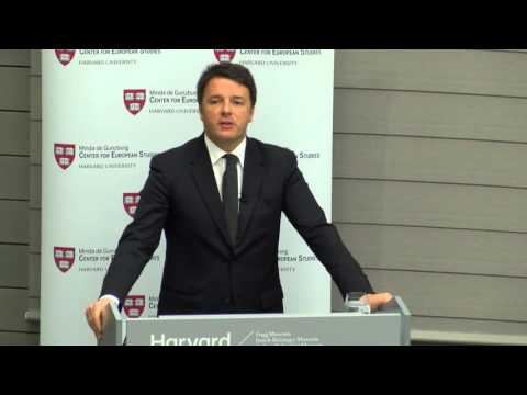 A Keynote Address by Prime Minister of Italy H.E. Matteo Renzi