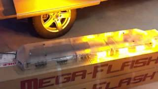 Redtronic Mega Flash FX LED Lightbar Blue/Amber Dual Colour model from Dun Bri Group