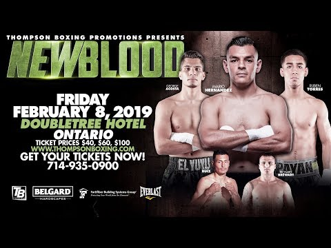 """New Blood Feb 8, 2019 Fight Night: """"New Blood"""" Main Event showcases an intriguing matchup between..."""