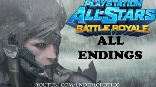 PlayStation All-Stars Battle Royale - All Characters Endings