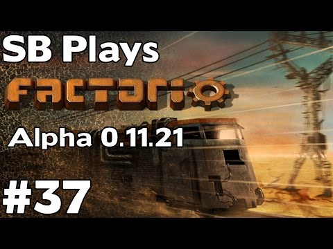 Turrets+Poison Capsules=Fun! SB Plays Factorio (0.11.21) ep37