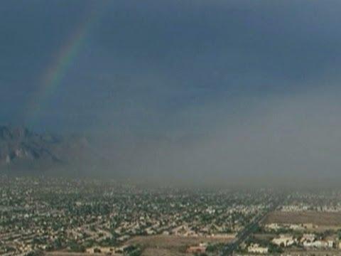 Raw: Dust Storm, Rainbow Over Phoenix