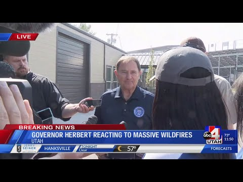 Governor Gary Herbert Reacts to Utah Wildfires