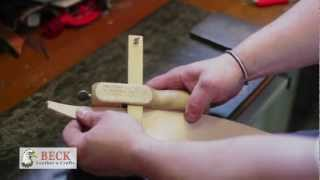 Leather Craft Training #5 - Cutting & Edging a Belt - Basic Skills HD