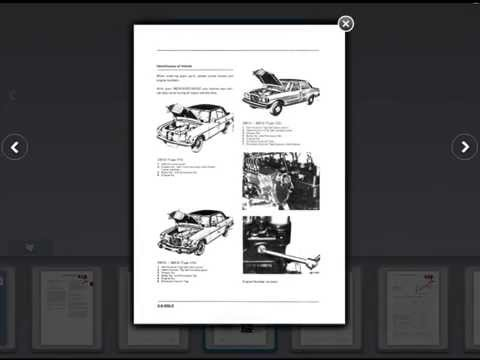 mercedes benz service manual engines 615, 616, 617.91 - youtube