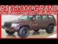 PASTORE R$ 35.000 #Jeep Grand Cherokee Limited 4x4 1997 Vermelho aro 16 AT4 5.2 V8 220 cv 41,5 kgfm