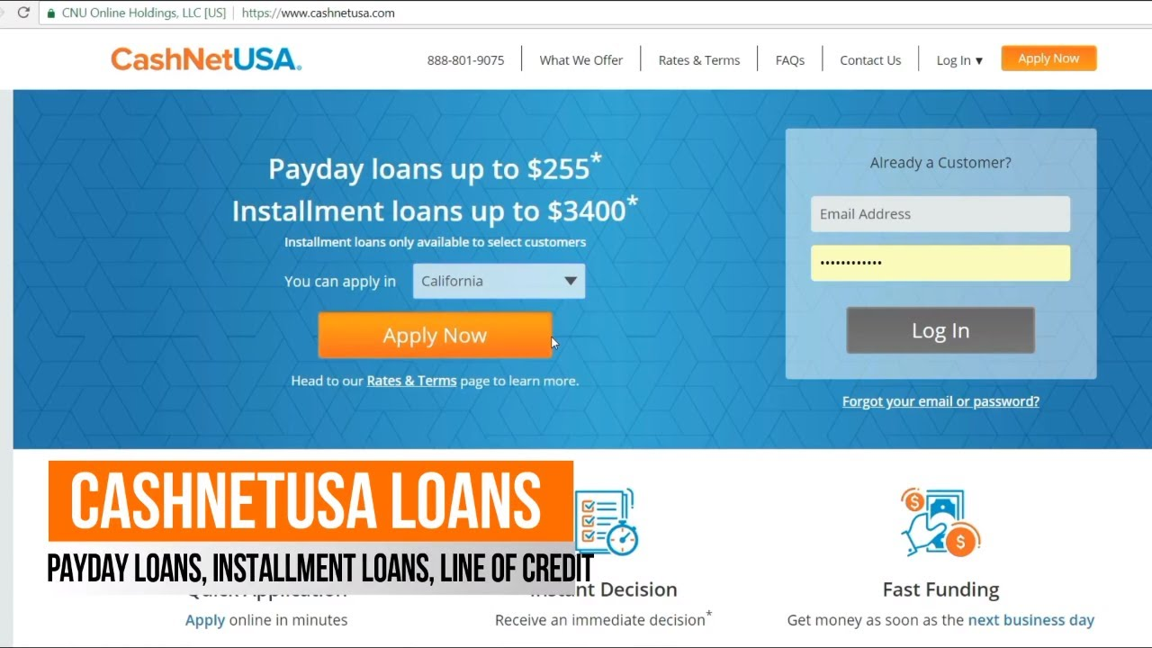 Cashnetusa Reviews: Same Day Loans, Payday loans, Line of Credit, get approved even with Bad ...