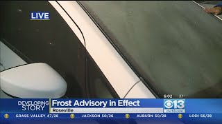 Valley Residents Wake Up To Frosty Morning