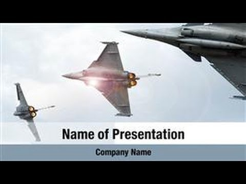 Military Aircraft Parade PowerPoint Template Backgrounds - DigitalOfficePro #02570W