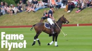 Zara Phillips And Prince Harry Watch Prince William Play Polo In Beaufort Park
