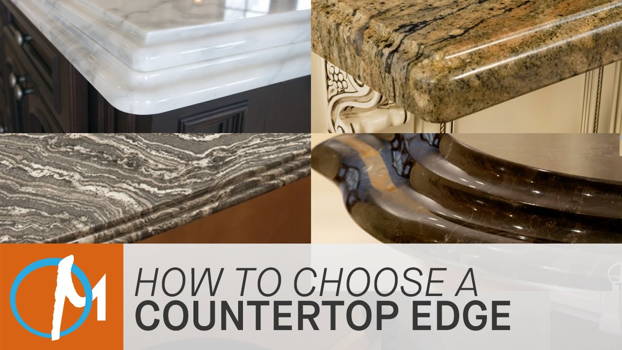 how to choose an edge for your countertop