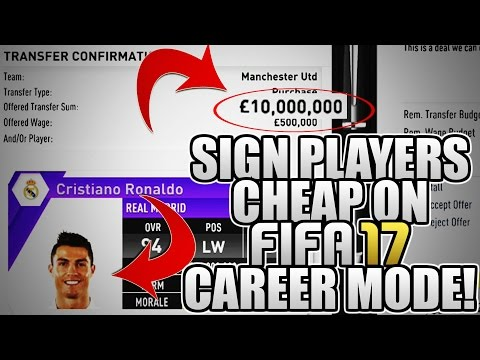 HOW TO SIGN PLAYERS CHEAP ON FIFA 17 CAREER MODE! | FIFA 17 TIPS AND TRICKS!