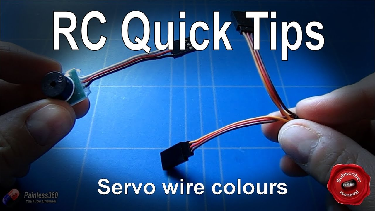 small resolution of rc quick tip understanding the servo wire colours youtube servo wire diagram three