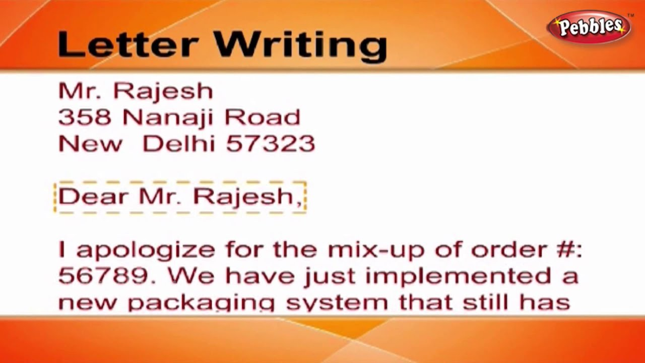 how to write a letter letter writing in english writing letters