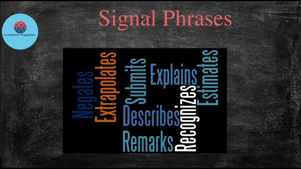 Signal phrases in writing