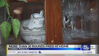 VIDEO: Pensacola police investigate dozens of bullet holes in home thumbnail