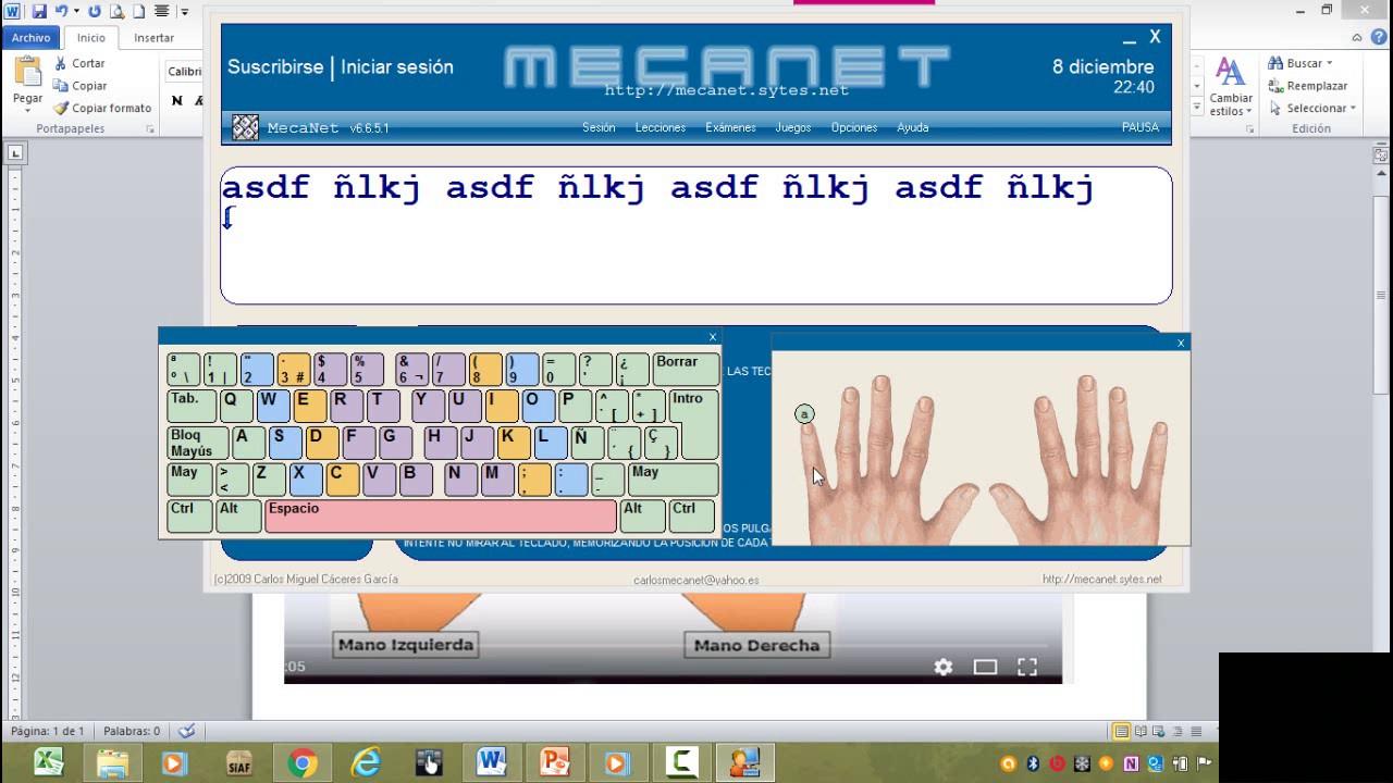 Programa De Mecanet Mecanografia Para Escribir Rapido En El