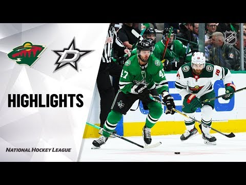NHL Highlights | Wild @ Stars 10/29/19