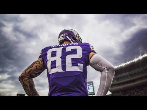 wholesale dealer 2ef34 90402 Kyle Rudolph 2016 Minnesota Vikings Highlights - YouTube