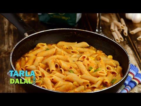 Whole Wheat Pasta In Tomato Sauce (Low Calorie) By Tarla Dalal
