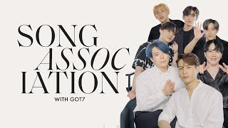 GOT7 Sing Post Malone, Justin Bieber, and K-Pop Hits in a Game of Song Association | ELLE