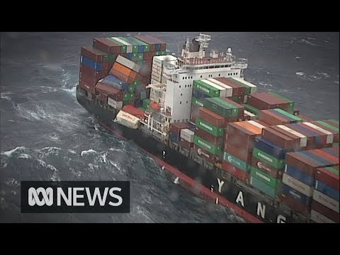 83 shipping containers fall from cargo ship off Australia's east coast | ABC News