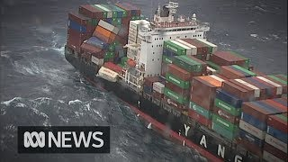 83 shipping containers fall from cargo ship off Australia