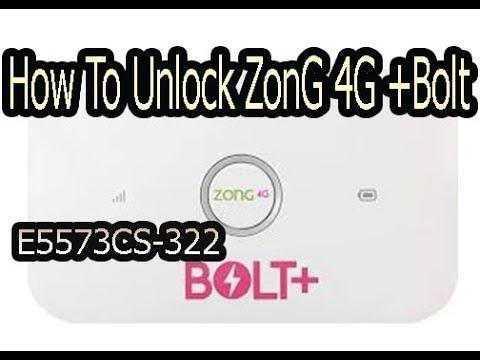 Unlock Zong Bolt + E5573cs -322 21 328/327/323  62  1456 All