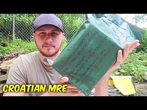 Tasting Croatian MRE (Meal Ready to Eat)