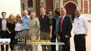 Traveling with Hilary Clinton