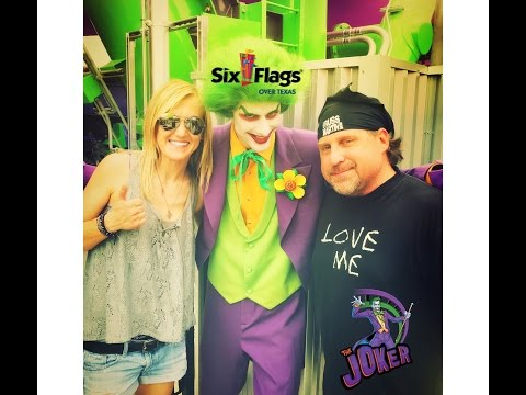 CLO & KENZIE RIDE THE JOKER AT SIX FLAGS media day