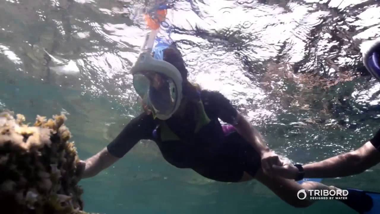 50b4aa37d Máscara EasyBreath Tribord - Inovação Exclusiva Decathlon - YouTube