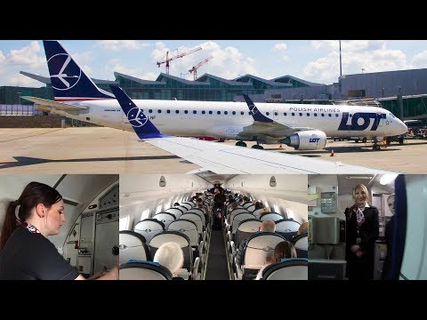LOT POLISH AIRLINES: Best Airline in Europe? Lviv to Warsaw Trip Report (Embraer E195)