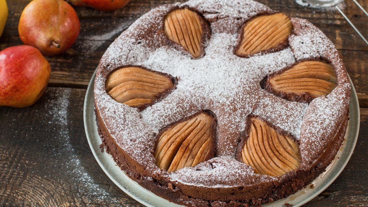 Almond Chocolate Pear Cake Recipe