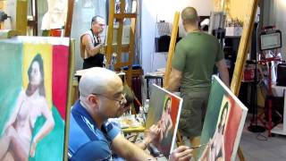 Painting Workshop from a model