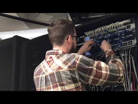 "Timelapse Re-Cabling Network Rack w/ 6"" Patch Cables & Ubiquiti Switches"