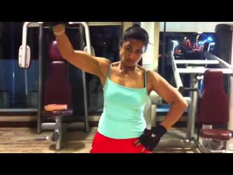 Kiran Dembla Biceps Workout Youtube