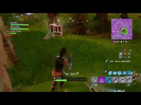 Fortnite battle royal with nappy boy help him get 1k