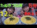 【大食い】絶品5分料理!たぬきつね丼11kg超え!【双子】