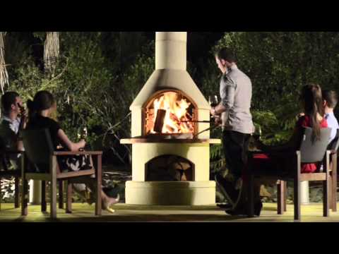 Buschbeck Masonry Barbecue Fireplaces - YouTube
