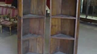 Pair Primitive Pine Corner Cabinets C.1840