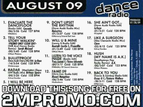 La Roux Promo Only Dance Radio August Bulletproof Dave Aude Cherry Mix Edit
