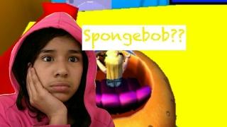 Escape SPONGEBOB??!! *i thought it was escape the 7* | roblox [205]