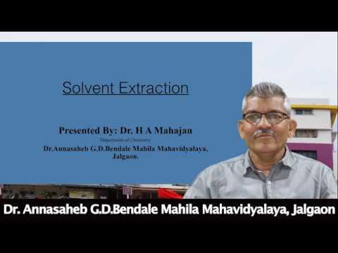 Chemistry: Solvant Extraction ...