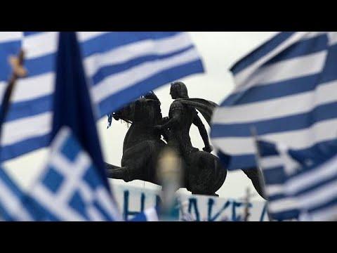 euronews (en français): Manifestation pour la défense de la Macédoine