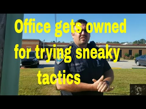 Officer Gets Owed When He Tries Sneaky Tactics.1st Amendment Audit NC