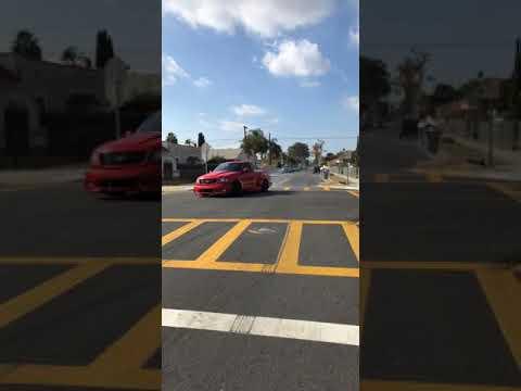 Ford lightning Svt getting sideways in front of School !