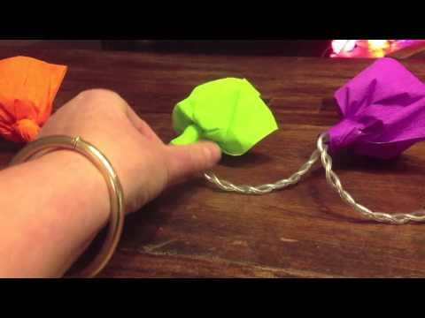guirlande lumineuse de fleurs en papier sisterskit youtube. Black Bedroom Furniture Sets. Home Design Ideas